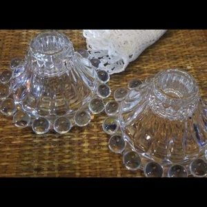 Other - 30 crystal glass candle holders